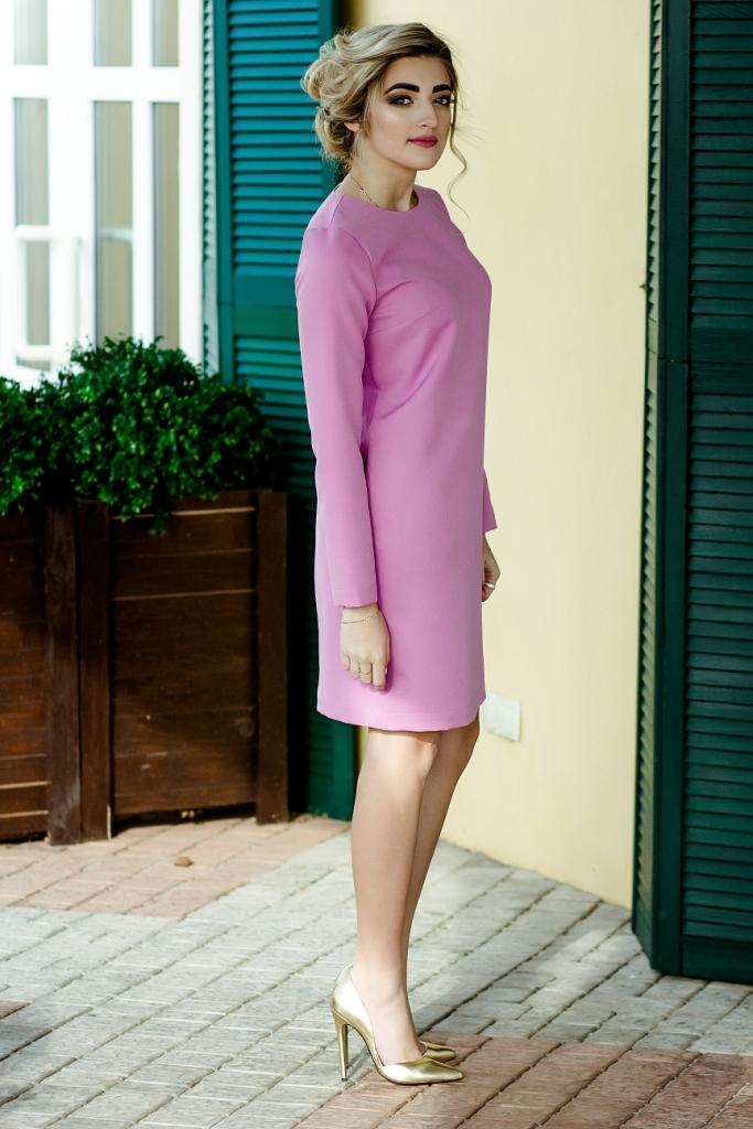 Платье сиреневого цвета фото