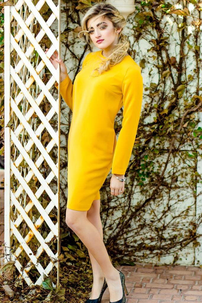 Платье горчичного цвета днепр