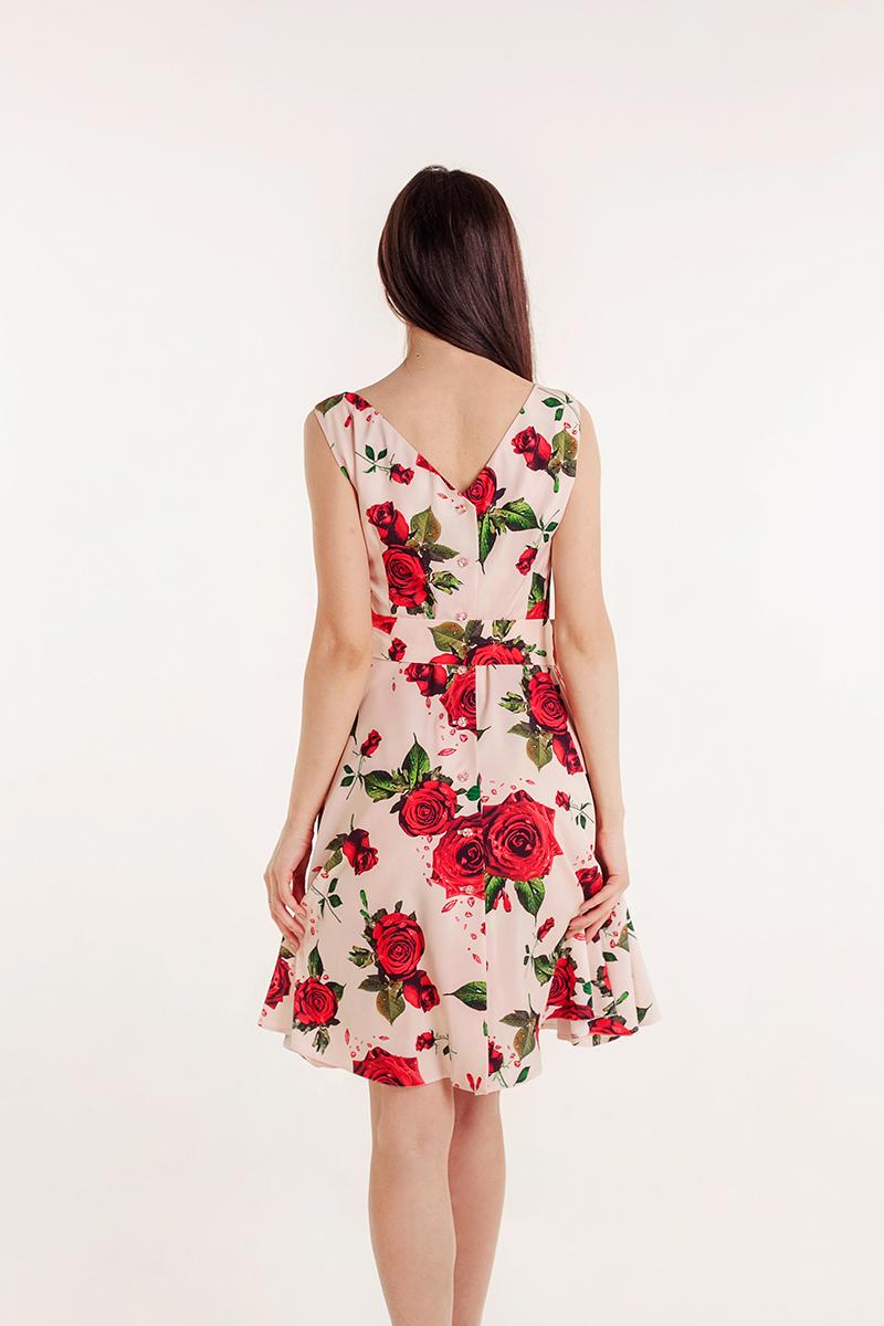 платье с розами фото