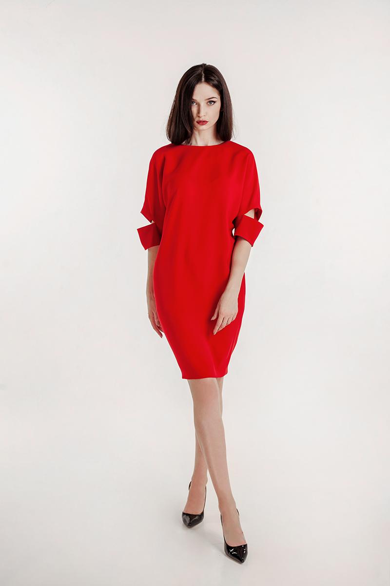 платья днепр красное