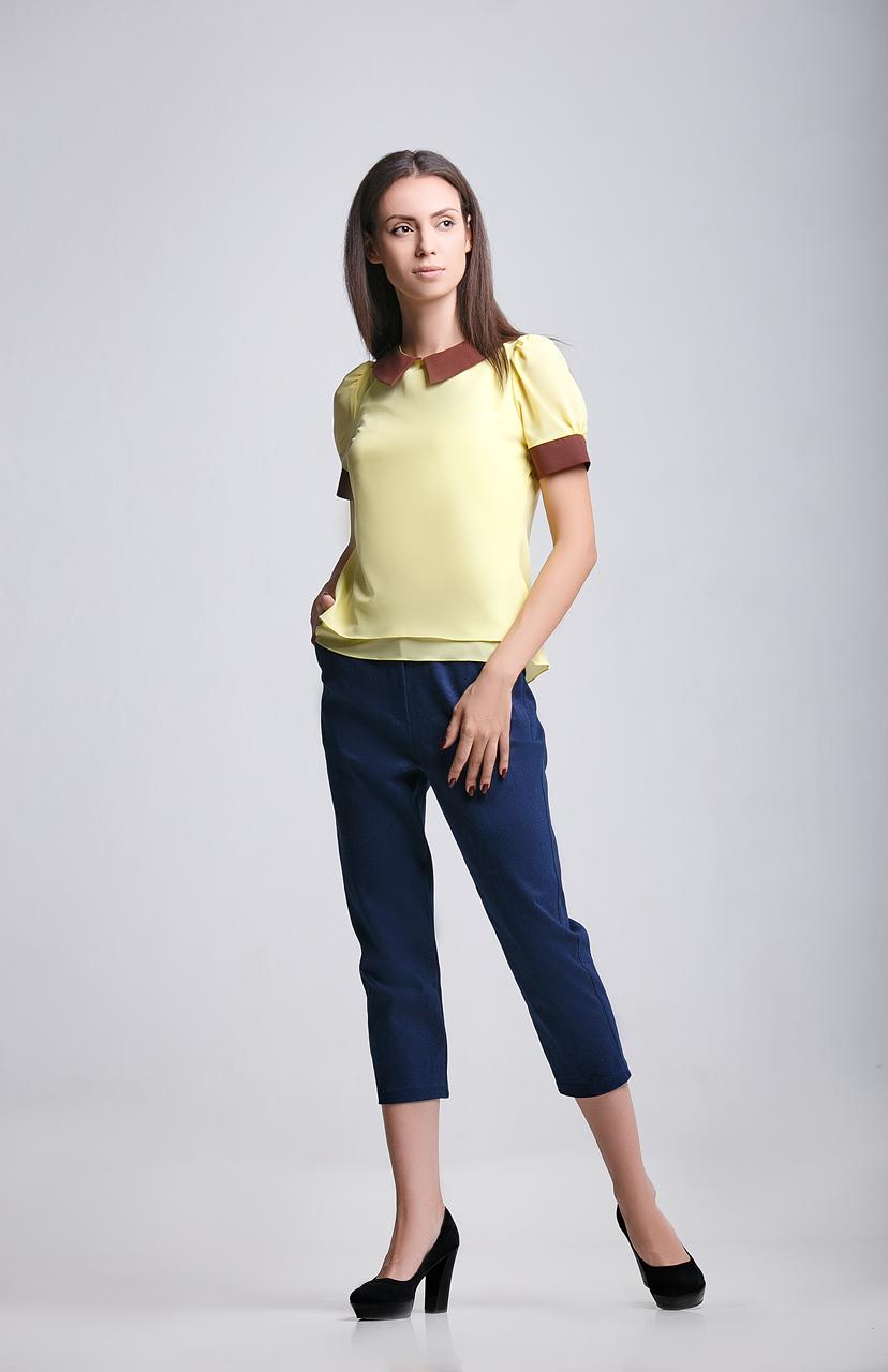 блуза желтого цвета