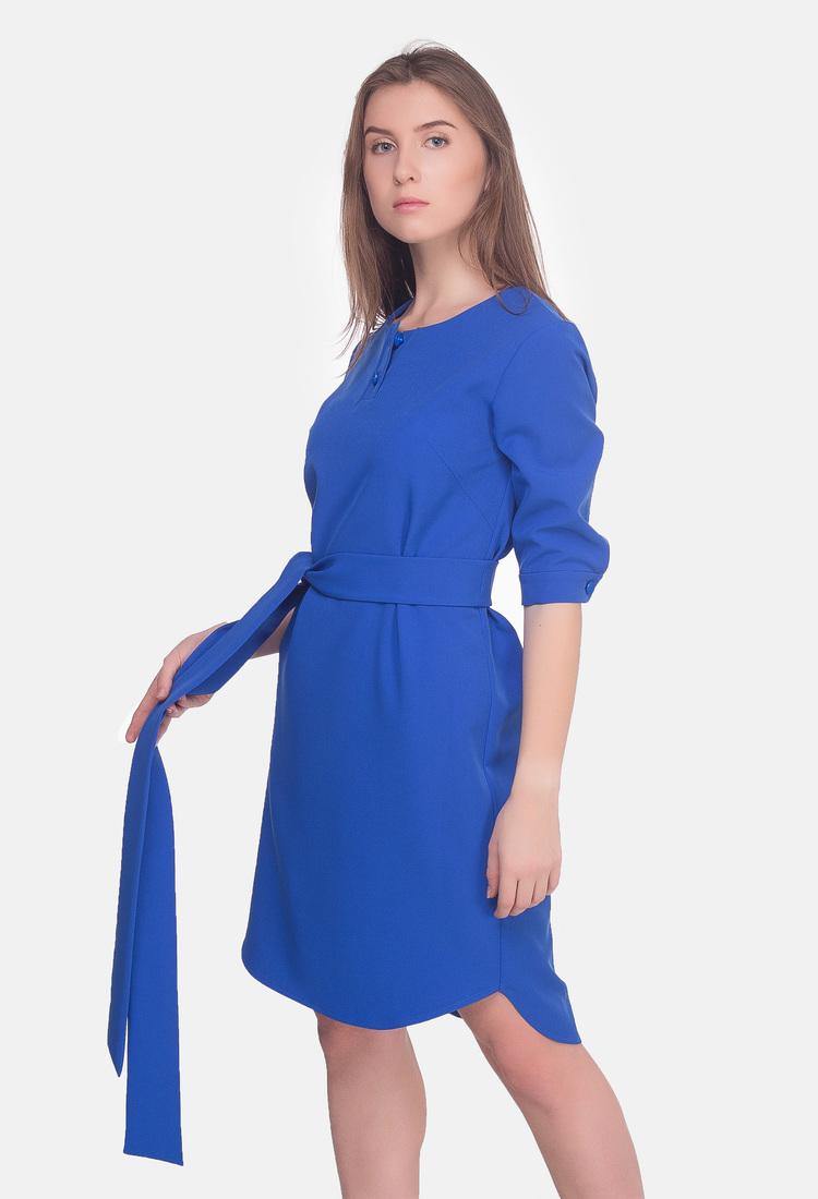 Платье рубашка синего цвета